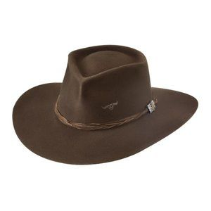 Brown Felt Hat Western Couture - Outlaw Trouble